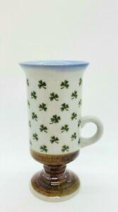 Shamrock Pottery Irish Coffee Mug  EUC