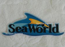 SEA WORLD Die Cut Title SeaWorld Vacation Scrapbook Paper Piece - SSFFDeb