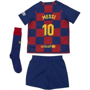 Genuine Nike Barcelona Junior Kids Home Full Kit 2019/20, Messi 10