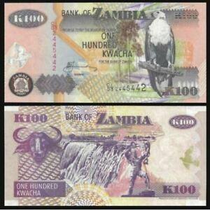 Zambia Banknote 100 Kwacha 2006 (UNC) 全新 赞比亚 100克瓦查 2006年