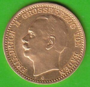 GOLD Baden 10 Mark 1913 besser als vz sehr selten nswleipzig