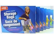 6 Storage Bags Handle Zip Lock Clothes Shoes L XL XXL Heavy Duty 3 Boxes