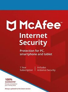 McAfee Internet Security 2021   1 Year   Windows/MacOS/Android/iOS