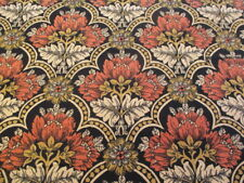 Vintage Sanderson PEGASUS Cotton Curtain Fabric Black Rust Gold blinds cushions