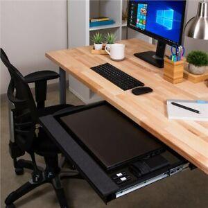 "Penn Elcom Lockable Laptop Security Drawer 550mm/21.65"" Deep- Black or Silver"