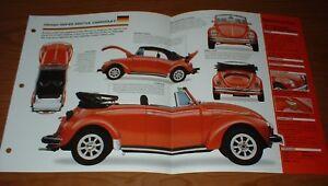 ★★1971 VW SUPER BEETLE CABRIOLET ORIGINAL IMP BROCHURE 71 VOLKSWAGEN CONVERTIBLE