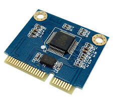 Dual TF Micro SD Card to Mini PCI-E Express + half Bracket Memory Reader Ad