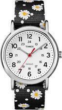 "Timex TW2R24100, Women's ""Weekender"" Floral Fabric Watch, Indiglo, TW2R241009J"
