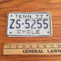 Vintage 1977 Tennessee Motorcycle License plate -  worldwide shipping