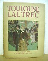 Toulouse Lautrec par Jacques Lassaigne 1939 HB/DJ First Edition