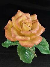 "Lenox 2003 Gold Club Rose Porcelain Figurine 3 1/2"" Tall - No Box"