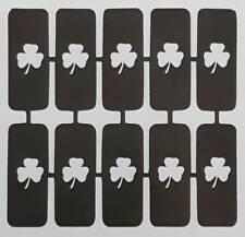 30 X Shamrock uñas Plantillas Para Aerógrafo el día de San Patricio Irlandés Irlanda Regalo