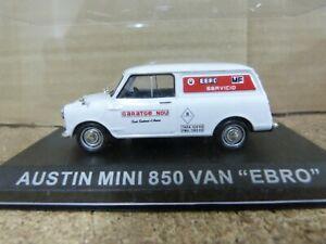 Austin Mini 850 Van.Ebro.Altaya escala 1/43 con Caja Metracrilato
