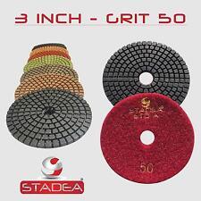 Stadea 3 Inch Wet Diamond Polishing Pads Premium Grade Wet Flexible 3 MM High