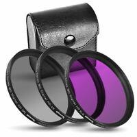 3 Piece Multi Coated HD Filter Kit 40.5mm (UV, CPL, FLD) for DSLR Camera