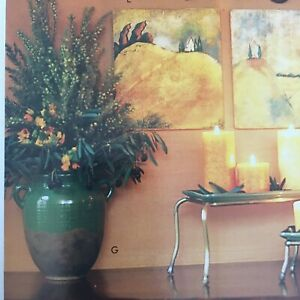 Southern Living at Home Product Large Green Tuscan Olive Jar du Marais Vase/Urn