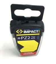 "CK PZ2 Impact Bit Screwdriver 1/4"" Blue Steel 25mm T4560 PZ2D15  Pack 15"