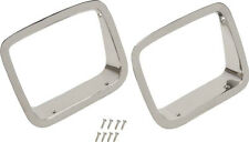 Headlight Bezels Pair Polished Stainless Jeep Wrangler YJ 1987-1995 30536