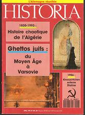 HISTOIA 1993 GHETTOS JUIFS JEWISH VARSOVIE ALGERIE ALLEMAGNE LES BOURBON D' INDE