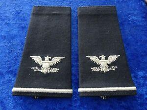 (Box-B) US Air Force Colonel Shoulder Mark Schulterklappen Überziehschlaufen