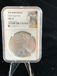 7k Label MS70 Silver Eagle US State Series 1oz NGC Graded Pennsylvania