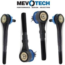 Pair Set of 2 Front Inner & Outer Tie Rod Ends Mevotech For Lincoln Ford RWD