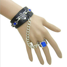 Anime Black Butler Kuroshitsuj Ciel Bracelet with Ring Chain Cosplay Costume