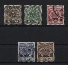 Deutsch-Ostafrika 1-5 kompletter Satz gestempelt 3 und 5 BPP-geprüft (B05547)