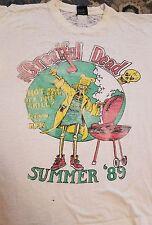 Grateful Dead 89 Rare Paperthin Vintage Onedate tshirt Rfk Washington Dc Ooak Xl