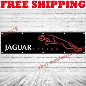 Jaguar Racing Logo Banner Flag 2x8 ft Car Show Garage Wall Decor Sign 2021 NEW