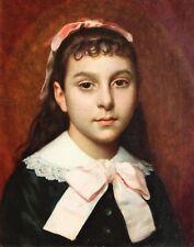 PINEL DE GRANDCHAMPS, portrait, fille, femme, tableau, peinture, France, enfant