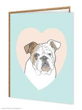 Bulldog / amoureux de chiens/ ANNIVERSAIRE/CARTE DE VOEUX/brainbox CANDY/MIGNON