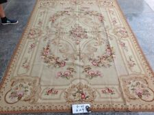 6' X9'Shabby Chic Luxury Victorian Hand Woven Needlepoint Floral Rug Pink Rose