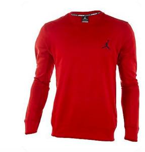 Jordan Men's Dri-Fit Dominate 3.0 Crew Sweater Red 624266 695