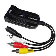 Female HDMI to Male AV Female SVIDEO Audio Video Converter 1080P for PS4 DVD