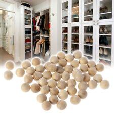 50Pcs Natural Cedar Wood Moth Balls Camphor Repellent Wardrobe Clothes Drawer