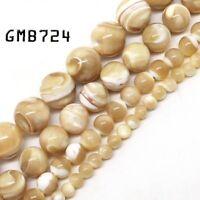 "Natural Gemstone Trochus Shell Stone Beads Strand 15"" Wholesale Jewelry Making"