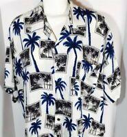 Vintage Hawaiian Aloha Pineapple Connection Short Sleeve Shirt Size 2XB