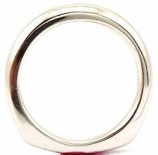 NEW 14k white gold sz7 square bottom wedding band 3.3mm comfort ring 4.95g