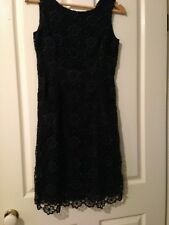 ALANNAH HILL LOVE ME NOT FROCK BLUE/BLACK SIZE 8
