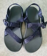 Men's Original Chaco Z/1 Size 10 Navy Blue Grey Hiking Water Sandals