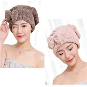 Dry Bath Hair Drying Towel Head Wrap Womens Girls Lady's Quick Dry Cap Hat JA