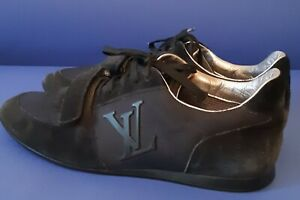 Louis Vuitton Black Suede Sneakers  size - 42, US 8,5