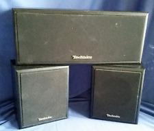 3 Vintage Technics Speakers System 2 SB-S17 Bookshelf SB-C17 Center 30W
