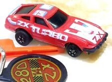 RARE Vintage 1980 Kidco Datsun 280ZX Red Burnin Key Car with KEY 1/64 Scale