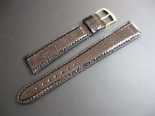 20 mm LONG Morellato Black Genuine Lizard Watch Strap! band belt Made Italy!