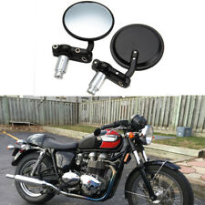 "MOTORCYCLE 7/8"" HANDLE BAR END SIDE REARVIEW REAR MIRRORS FOR DACUTI TRIUMPH NEW"