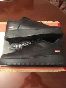 *DS* [sz.10.5 U.S.] Supreme x Nike Air Force 1 Low Black CU9225-001 *Brand New*