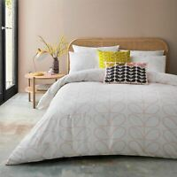 ORLA KIELY LINEAR STEM PINK WHITE SINGLE DUVET COVER 3 PIECE BEDDING SET