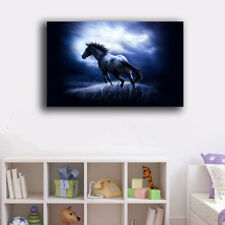 40×60×3cm Framed Canvas Prints Horse in Night Wall Art Home Decor Painting Gift